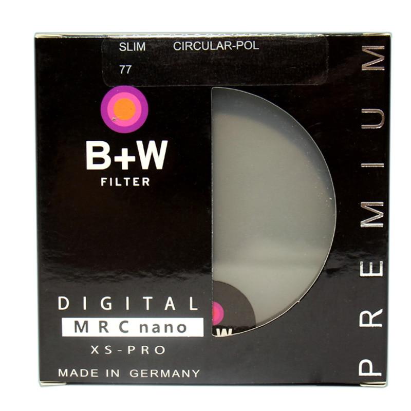 B + W CPL 67 مللي متر 72 مللي متر 77 مللي متر 82 مللي متر XS-PRO MRC نانو بالضباب تصفية المستقطب/الإستقطاب CIR-PL Multicoat واقية للكاميرا عدسة