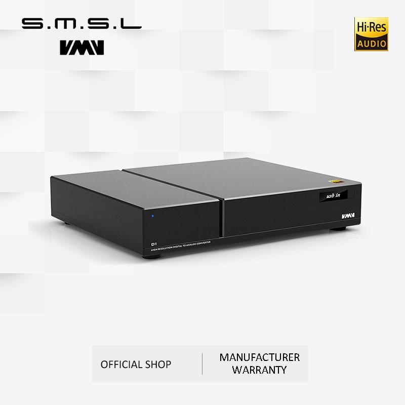 شرائح DAC متطورة, SMSL VMV D1 رقائق DAC المتطورة 2 * ES9038 PRO Hi-end PCM768 DSD512 XMOS دعم مدخل USB بصري محوري RCA XLR الإخراج