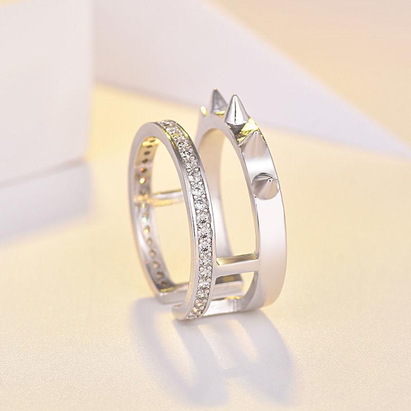 anel de auto defesa masculino e feminino aco inoxidavel moda lobo anel produtos de