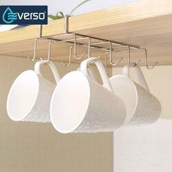 Küche Schrank Lagerung Rack Schrank Regal Hängen Haken Organizer Closet Kleidung Glas Becher Regal Aufhänger Schrank Halter