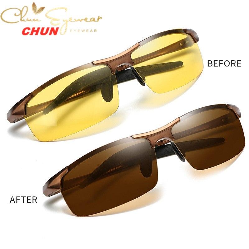 Gafas de sol polarizadas fotocromáticas de aluminio M271 + funda