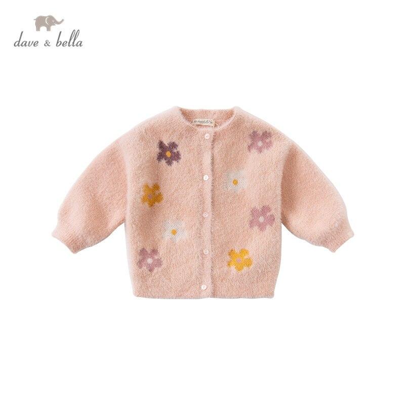DBZ15257 dave bella/осенний Модный кардиган с цветочным рисунком для маленьких девочек; Детское пальто для малышей; Милый вязаный свитер для детей|Свитера| | АлиЭкспресс