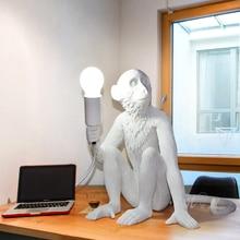 Norcic Led Tafellamp Hars Aap Lamp Leuke Dier Bureaulamp Industriële Tafel Licht Voor Studie Office Bar Coffee Shop armatuur