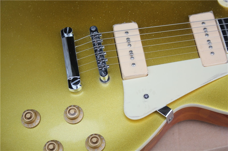 Stock classic jazz 6 string electric guitar, gold body, payment directly shipped, color optional enlarge