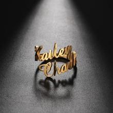Teamer Anello familiare per uomo donna anello doppio nome personalizzato gioielli personalizzati coppia regolabile in acciaio inossidabile regalo madre bambino