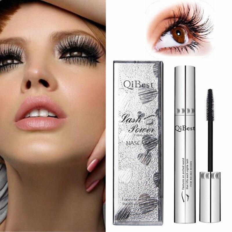 Rimel negro 4d grueso y largo ojos rimel impermeable de plata tubo de silicona pincel para mascara profesional de cosméticos