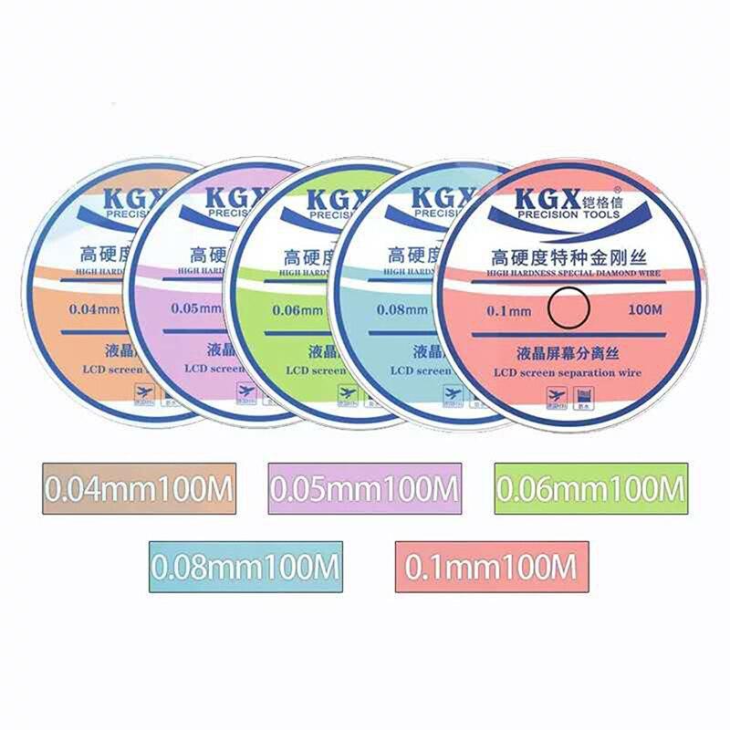 KGX 0.035mm/0,04mm/0,05mm/0,06mm/0,08mm/0,1mm pantalla LCD de cristal cable de separación para varios tipos de pantalla LCD de teléfono móvil