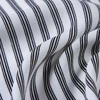 new 75d random linen stripe printed chiffon fabric for shirt and pants garment fabric