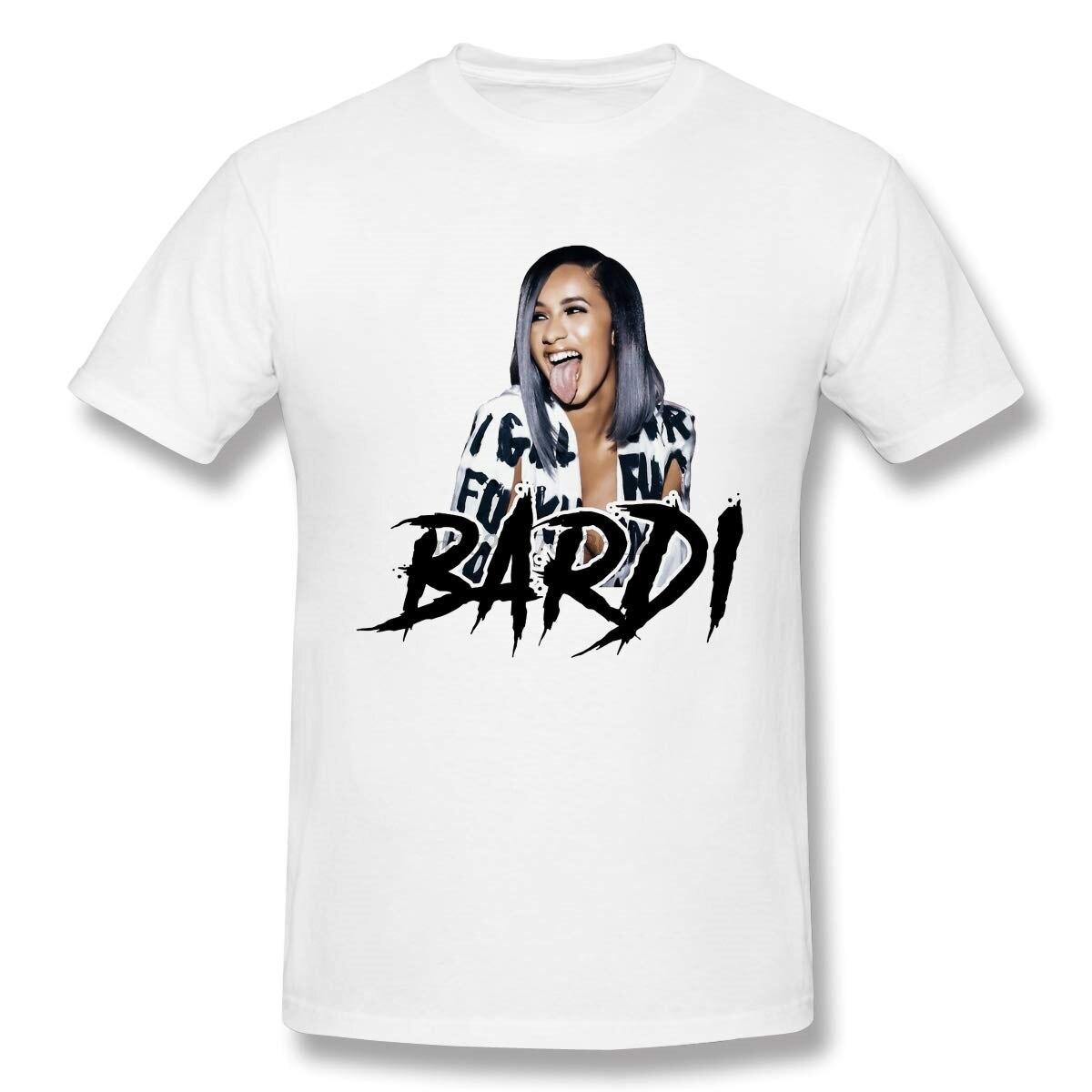 Cool Bardi Gang Cardi B hombre de manga corta estándar camiseta blanca
