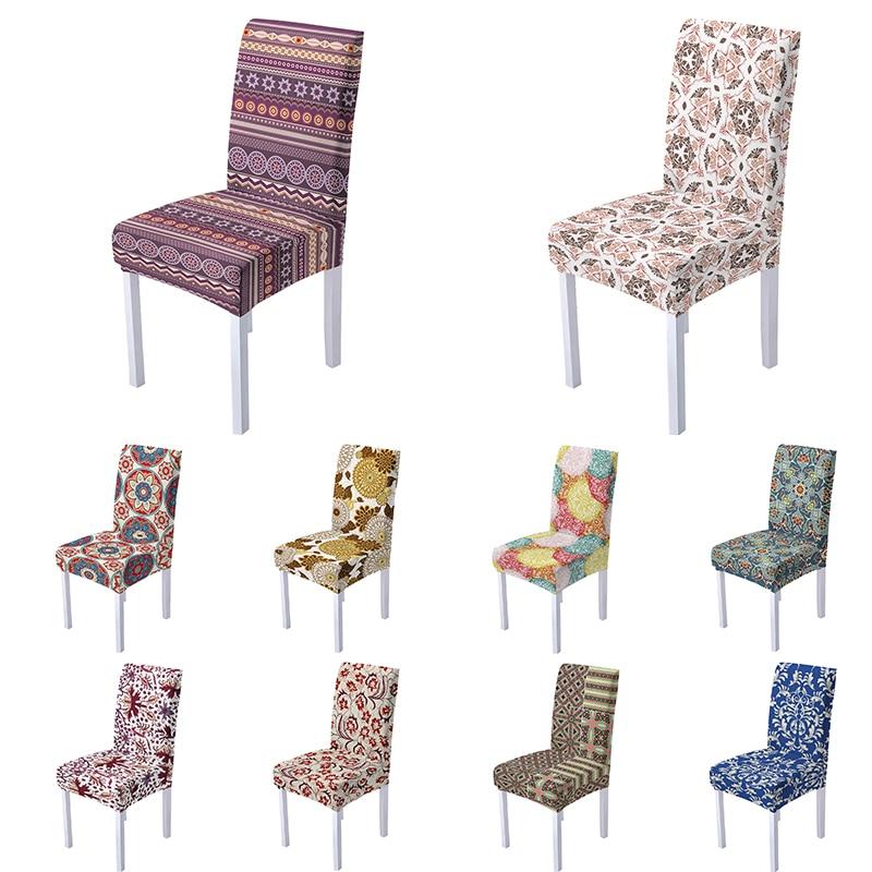 В этническом стиле Стиль Цветы Эластичные чехлы на кресла Seat Обложка снимается и стирается чехлы на кресла стрейч для банкетов и свадеб ком...