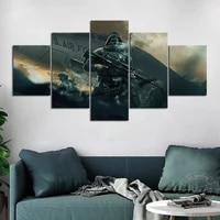unframed video game poster us air force soldiers sniper rifle hd wall picture for living room decor military artwork painting