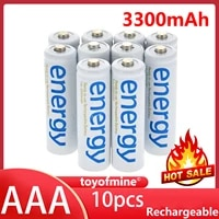 10x aaa ni mh 3a 2000mah 1 2v energy rechargeable battery white cell for rc mp3