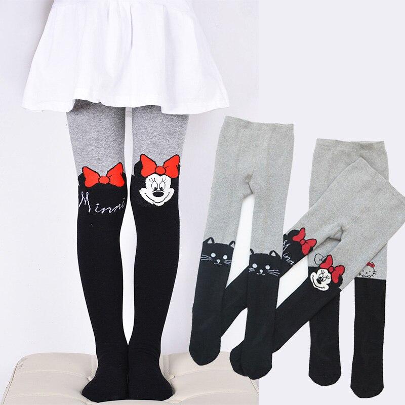 Bonito dos desenhos animados collants para meninas verão algodão bebê menina meia-calça de malha crianças meias elásticas roupas infantis adequadas 3-12 anos