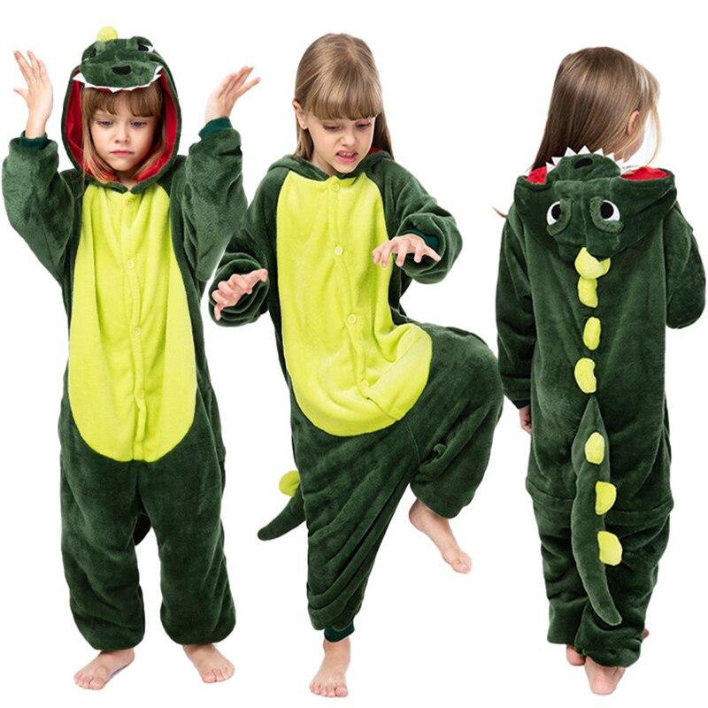 Children Dinosaur Pajamas Kids Baby Animal Overalls Jumpsuit Onesie Cartoon Pajama Sleepwear Girl Co
