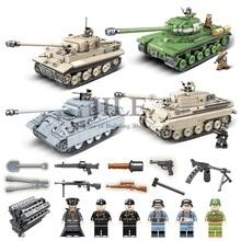 Moc 군사 세계 대전 육군 무거운 탱크 무기 싸우는 빌딩 블록 diy 벽돌 병사와 호환 독일 차량 완구