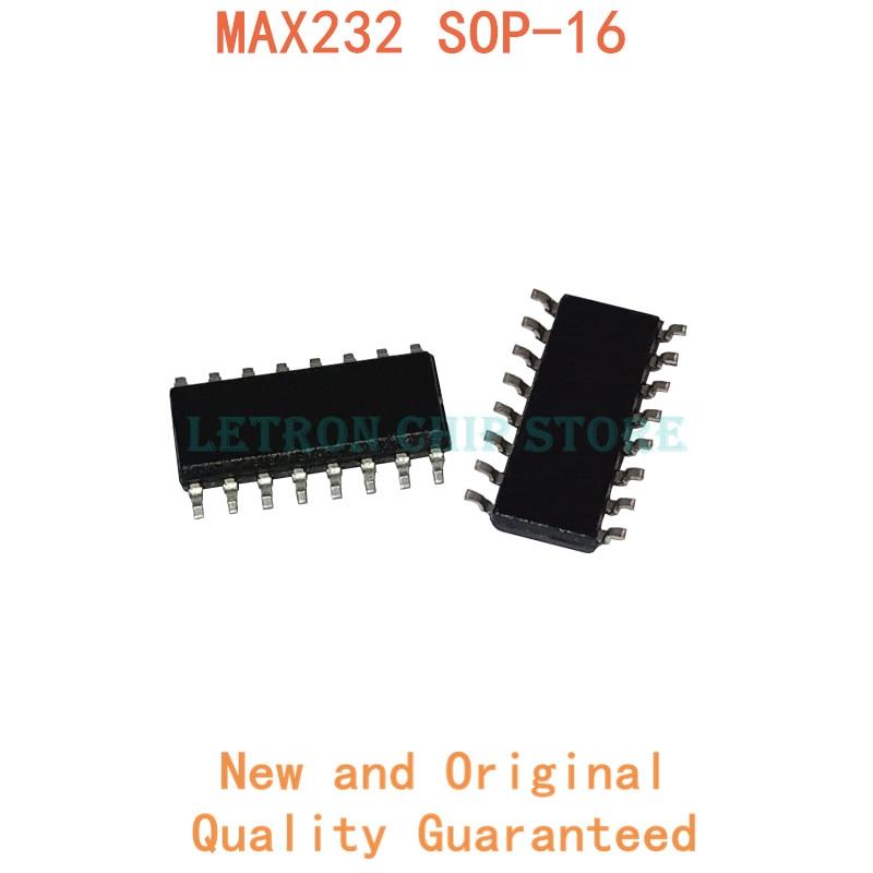 10 pces max232 sop16 max232cse sop-16 max232ese sop soic16 SOIC-16 smd novo e original chipset ic