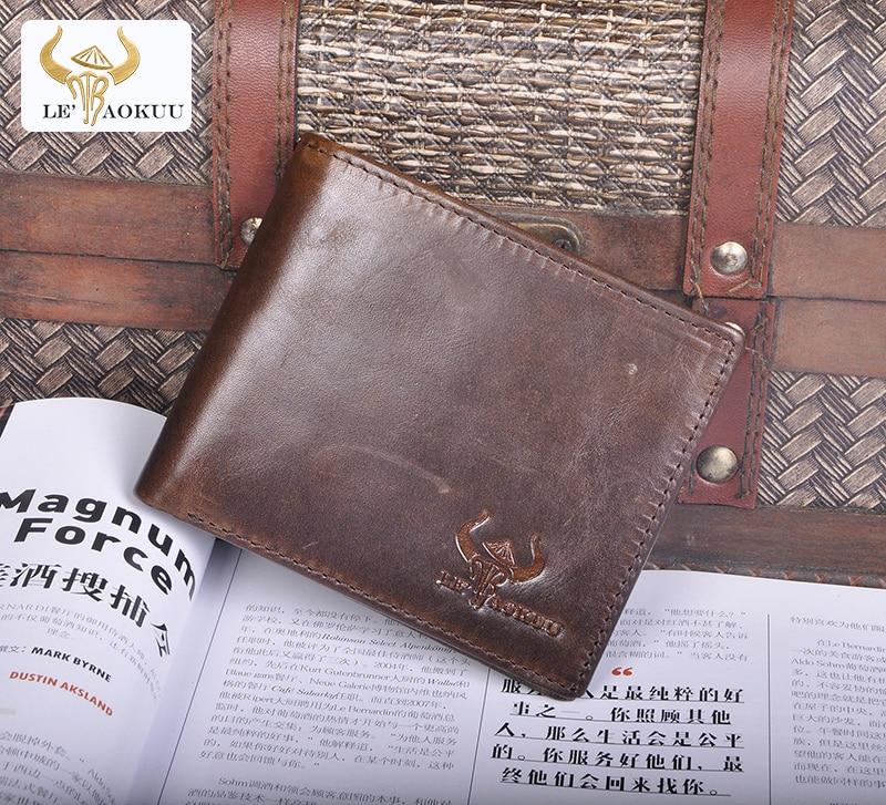 Qualidade superior novo gado masculino café couro genuíno magro titular do cartão de visita caso mini simples acessível carteira bolsa 274-lb