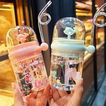 250ml 어린이 재미 있은 고래 물 스프레이 마시는 컵 만화 먹이 병 빨 대 휴대용 어린이 컵 Drinkware 컵