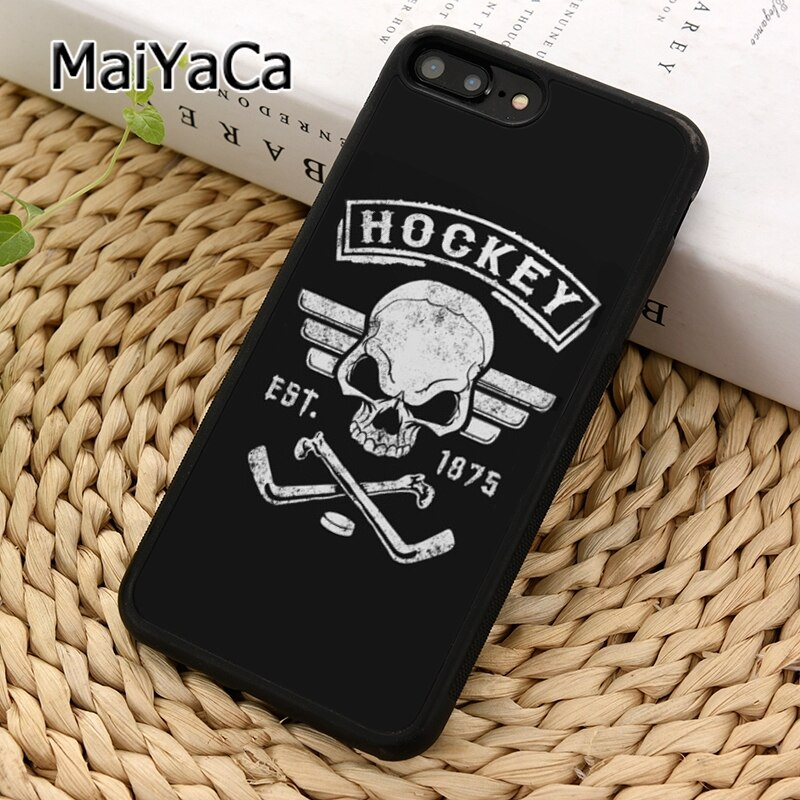 MaiYaCa Eat sleep hockey repeat Phone Case for iPhones 5 SE 6 6s 7 8 Plus X XR XS 11 pro max samsung galaxy S8 S9 S10