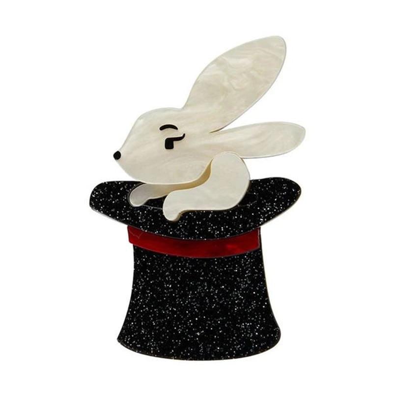 Bunny Acrylic Rabbit Brooches Trixie Bunny Honey Brooch  Women Man gift Easter Bunny Brooch pins Jewelry Dcnovember