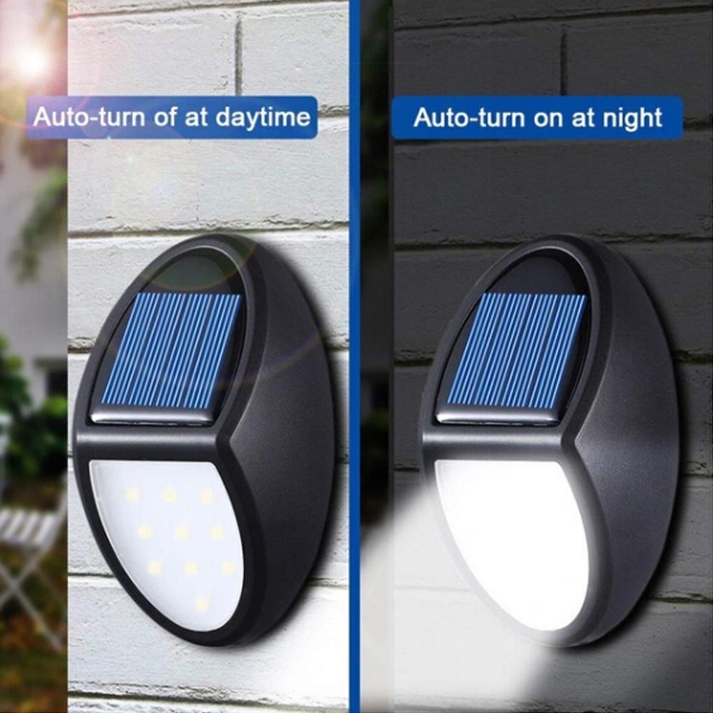 10 diodo emissor de luz solar ao ar livre lâmpada solar sensor luz de parede à prova dwaterproof água solar powered luz solar para decoração do jardim luz de rua