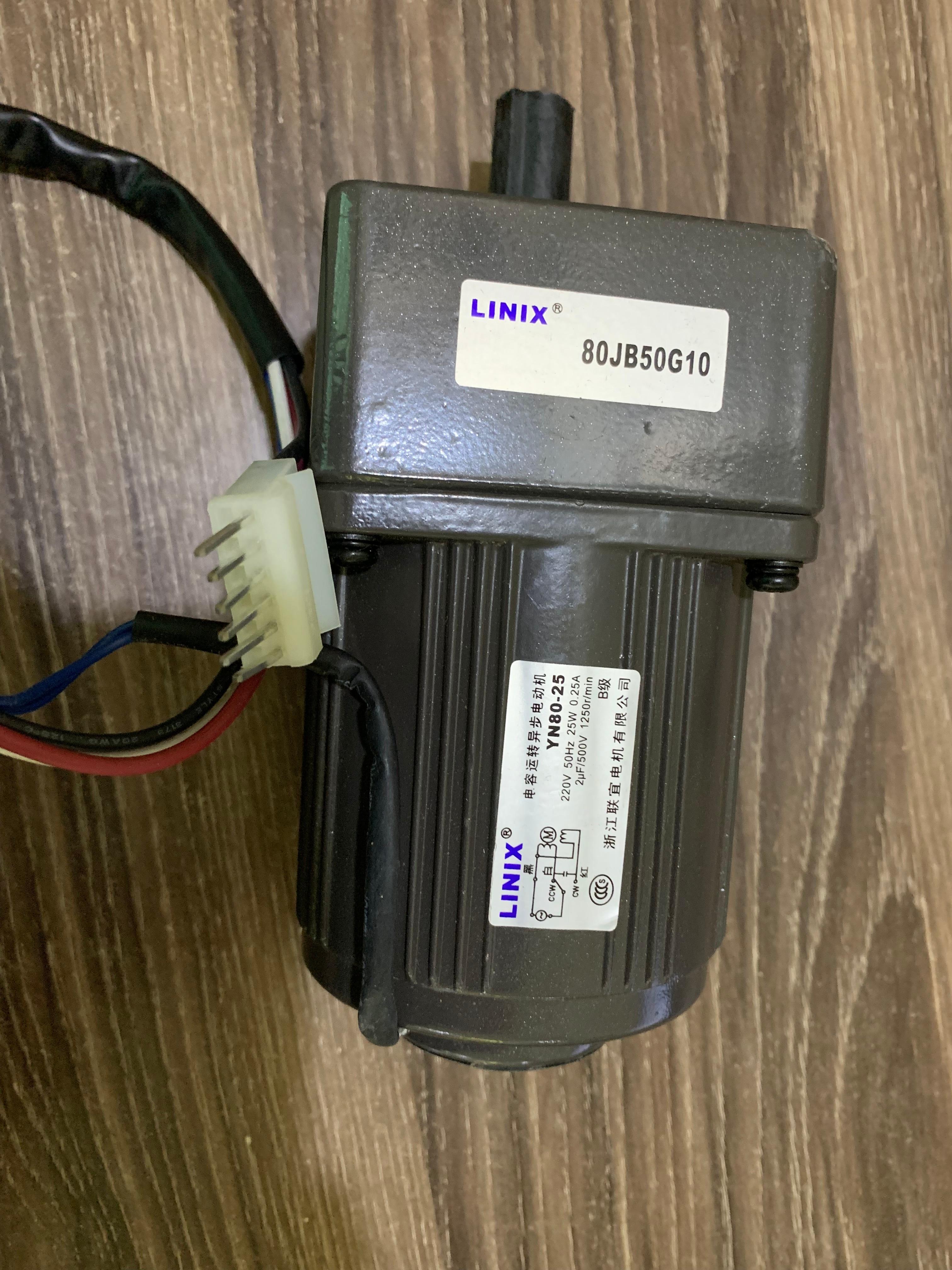 5 lines Adjustable speed Deceleration DC Motor LINIX Motor DC Gear Motor   YN80-25 80JB50G10 new original