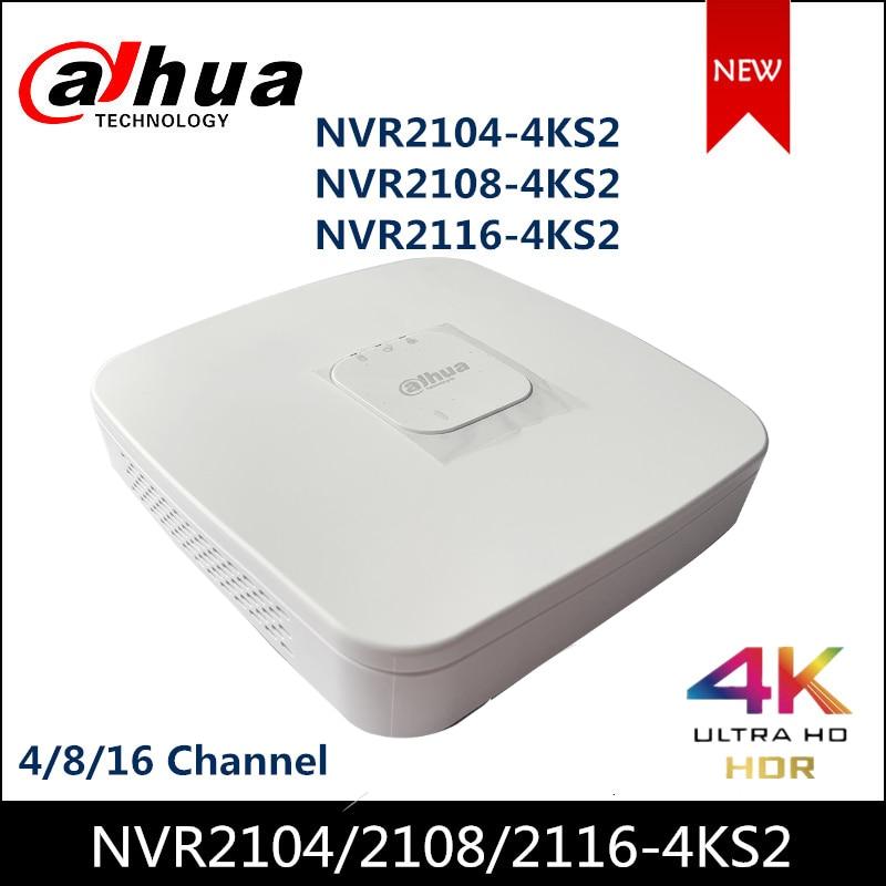داهوا NVR NVR2104-4KS2 NVR2108-4KS2 4/8 قناة الذكية 1U لايت 4K H.265 شبكة مسجل فيديو