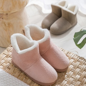 Women Winter Slippers High Top Home Faux Fur Slippers Couples Slip On Warm Plush House Shoes Men Women Indoor Outdoor Shoes