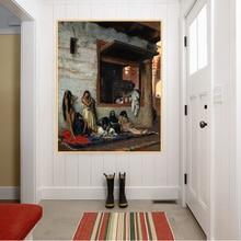Citon Jean-Leon Gerome 《 De Slave Markt 》 Canvas Olieverf World Beroemde Kunstwerk Poster Picture Wall Art decor Home Decoration
