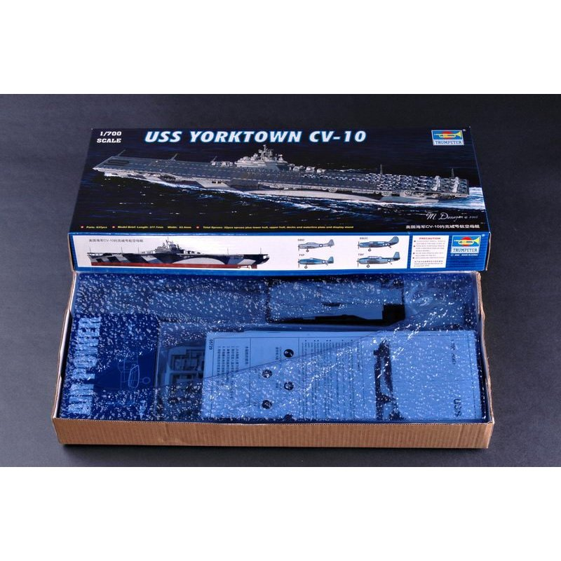 Trompetista 05729 1/700 USS YORKTOWN CV-10 escala modelo Kit