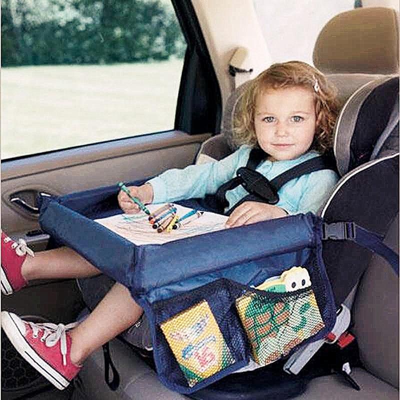 صينية مقعد السيارة للأطفال ، حامل طعام ، طاولة مشروبات ، طاولة محمولة مقاومة للماء للسيارة ، دعم القراءة والكتابة