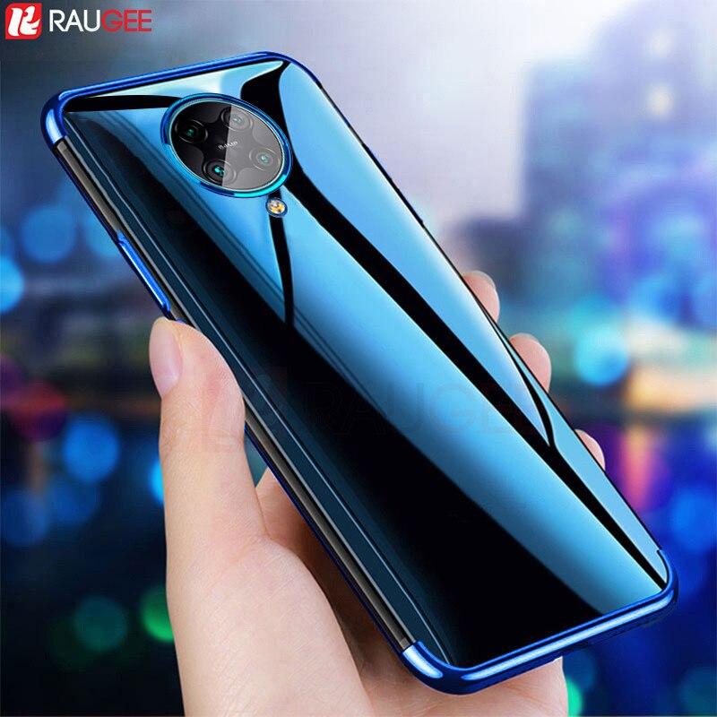 Phone Case For Xiaomi POCO F2 F 2 Pro Case Luxury 3D Laser Plating TPU Back Clear Case For Pocophone F2 Pro Redmi K30 Pro Case