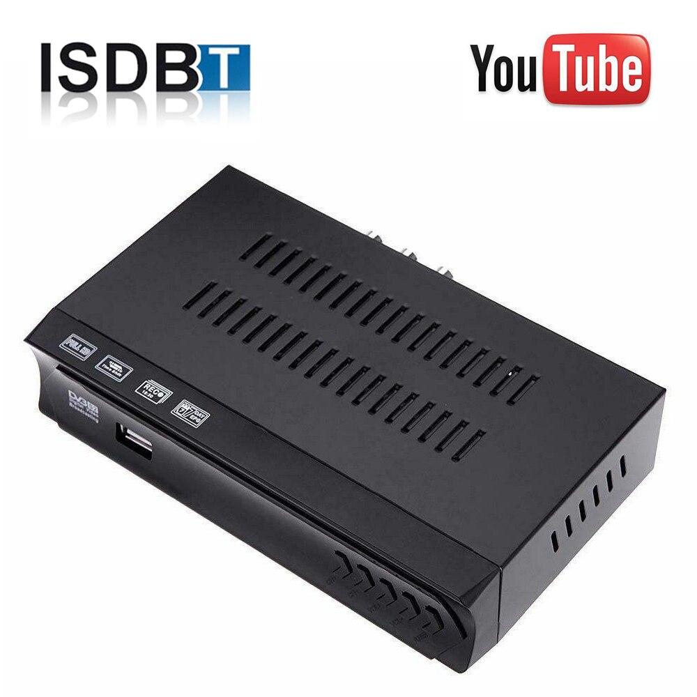 Peru Brasil ISDB-T sintonizador de TV receptor Digital terrestre ISDB T decodificador TDT Full HDTV USB grabadora H.264 para antena VHF UHF