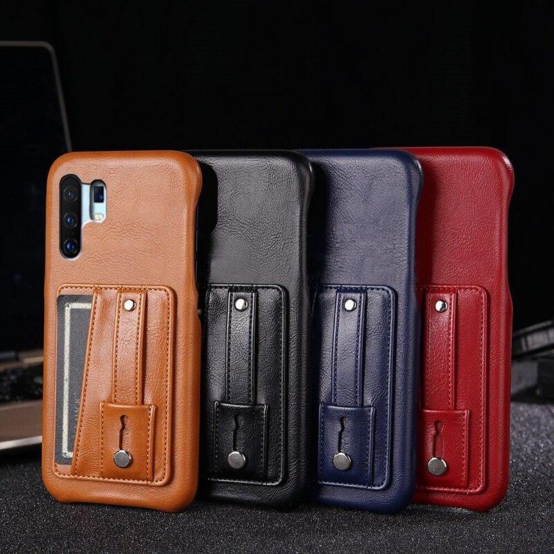 Para VIVO Y71 Y85 Y83 Y95 Y91 Y81 Y17 Y3 Y97 Y7S Y83 S1 Pro soporte de anillo de teléfono de lujo de negocios Funda de cuero