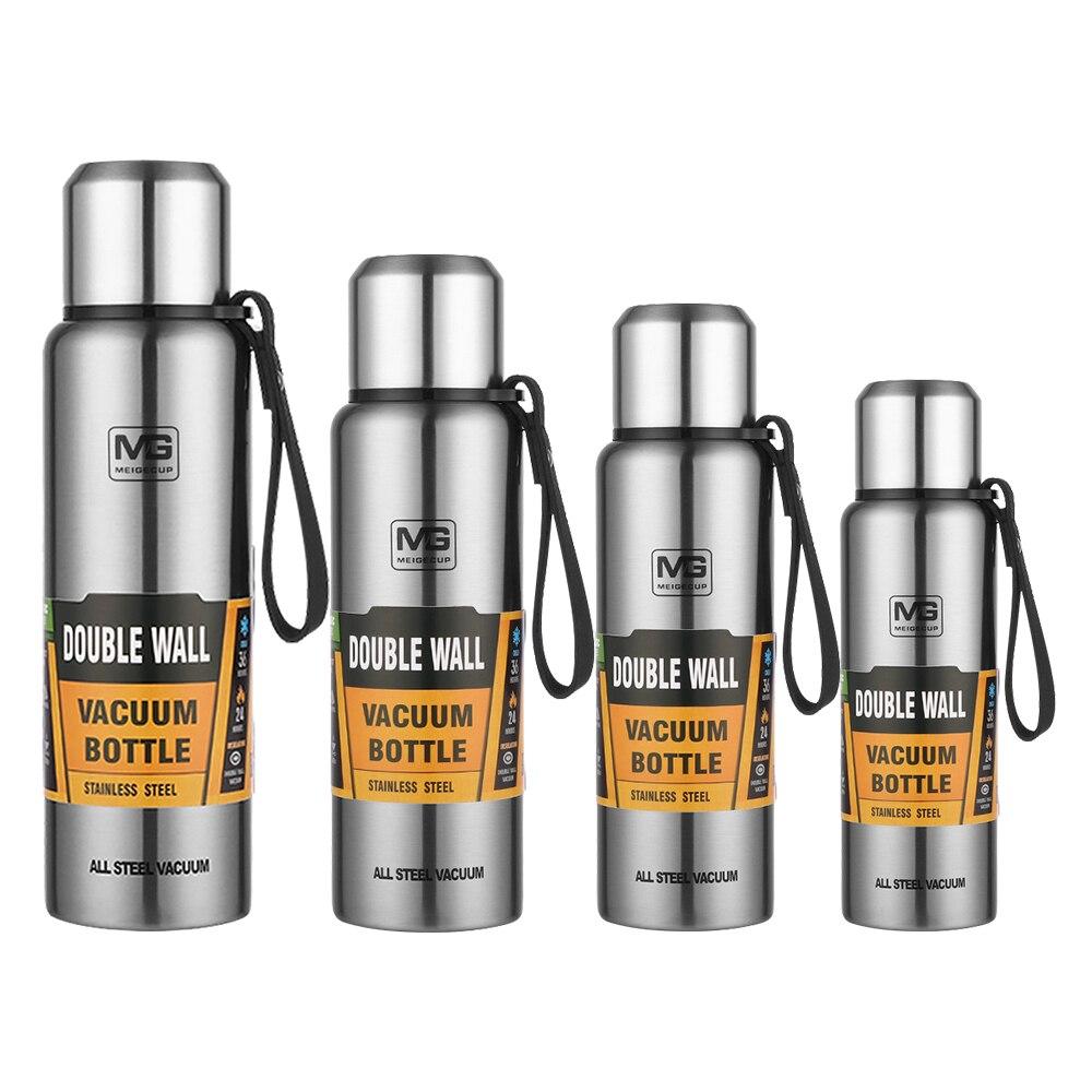 4 tamanhos 500-1500ml frascos de vácuo garrafa térmica copo garrafa térmica garrafa térmica garrafa de água chá garrafa térmica garrafa térmica garrafa térmica chaleira térmica