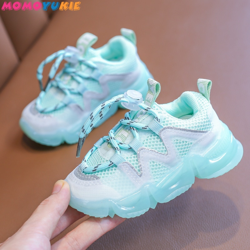 2021 New Mesh Kids Sneakers Lightweight Children Shoes Casual Breathable children's Boys Shoes Non-s