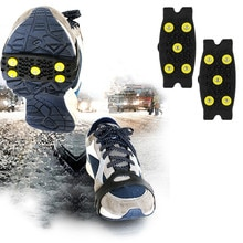 2020 heißer Stud Schnee Eis Klettern Anti Slip Spikes Grips Steigeisen Stollen 5-Stud Schuhe Abdeckung