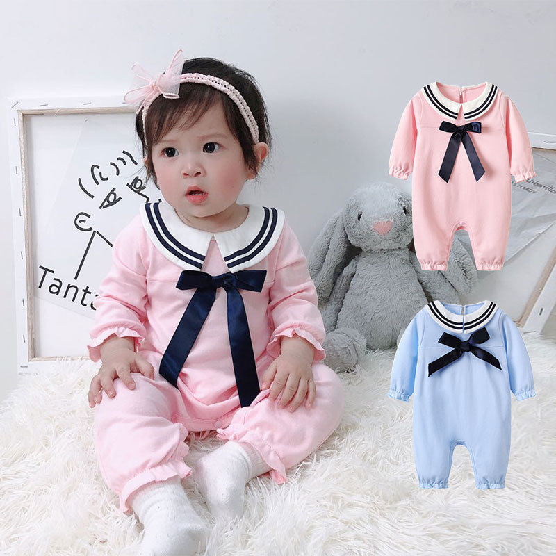 Newborn Baby Girls Clothes Cute Rompers Autumn Cotton Kids  Long Sleeve Jumpsuit Playsuit Outfits Clothing cute newborn baby clothing long sleeve cotton solid baby rompers peter pan collar girls boys clothes jumpsuit infant costumes