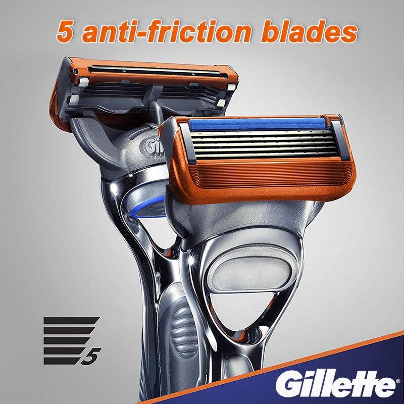 Gillette Fusion 5 Shaving Machine Safety Razor Holder Face Shaver Cassettes Shave Beard Case With Replacebale Blades For Men