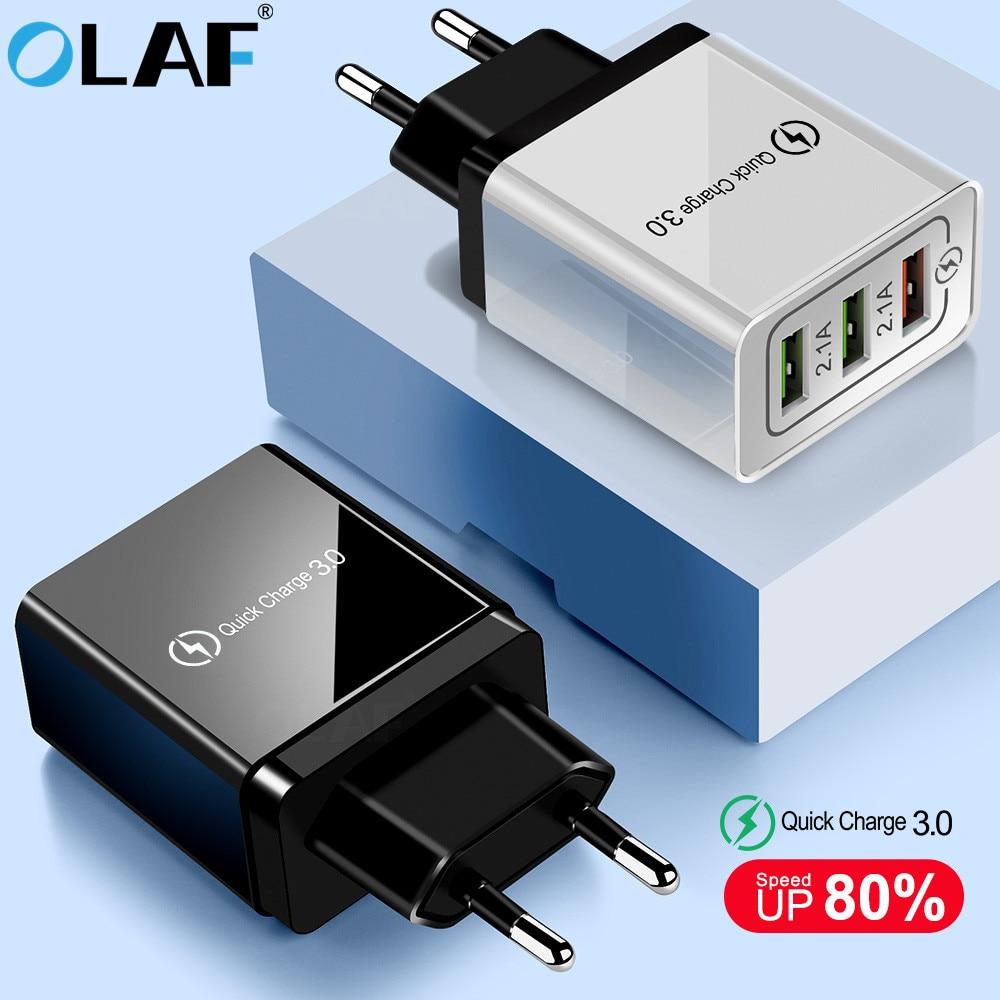 USB зарядное устройство Olaf quick charge 3,0 для iPhone X 8 7 iPad быстрое настенное зарядное устройство для Samsung S9 S20 Xiaomi mi 10 9 зарядное устройство для мобильного телефона