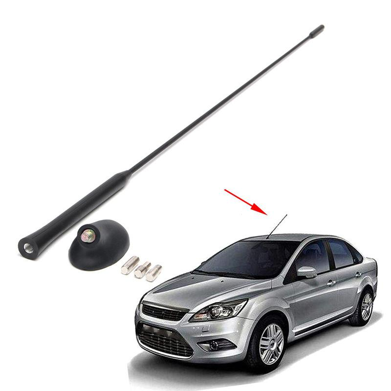 Car Antenna Base Kit Auto Black Antenna Kit for Ford Focus 2000-2007 Car Part Roof Mast Auto Replacement Car Accessories 21 5 length black car antenna roof am fm aerial car stereo radio antenna car accessory for ford focus 2000 2007