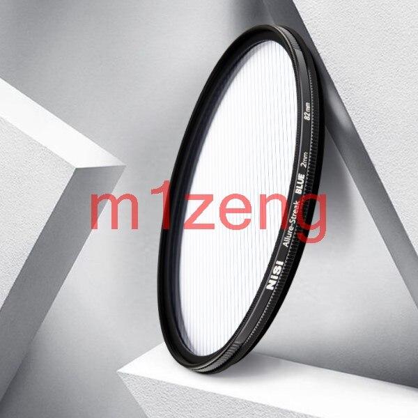 82 mm STREAK BLUE 2mm allure Anamorph Objektiv Streifen Wirkung Rund objektiv Filter für canon nikon sony pentax fuji olympus camera
