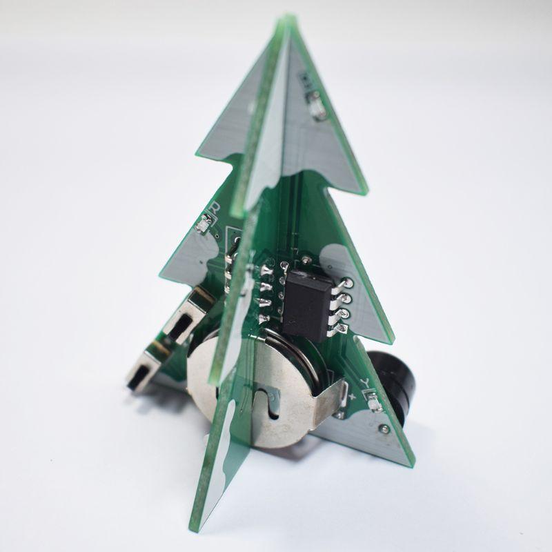 3D Мини PCB стерео Рождественская елка DIY музыкальный набор цепи электронные DIY наборы подарок