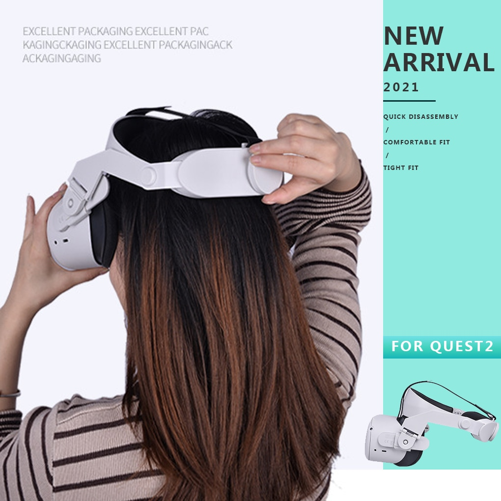 Adjustable halo Strap for Oculus Quest 2 VR,Increase Supporting forcesupport and improve comfort-Virtual Reality Access enlarge