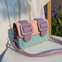 fashion panelled crossbody bags for women design lady shoulder bag luxury pu leather messenger bag small flap female purses 2021