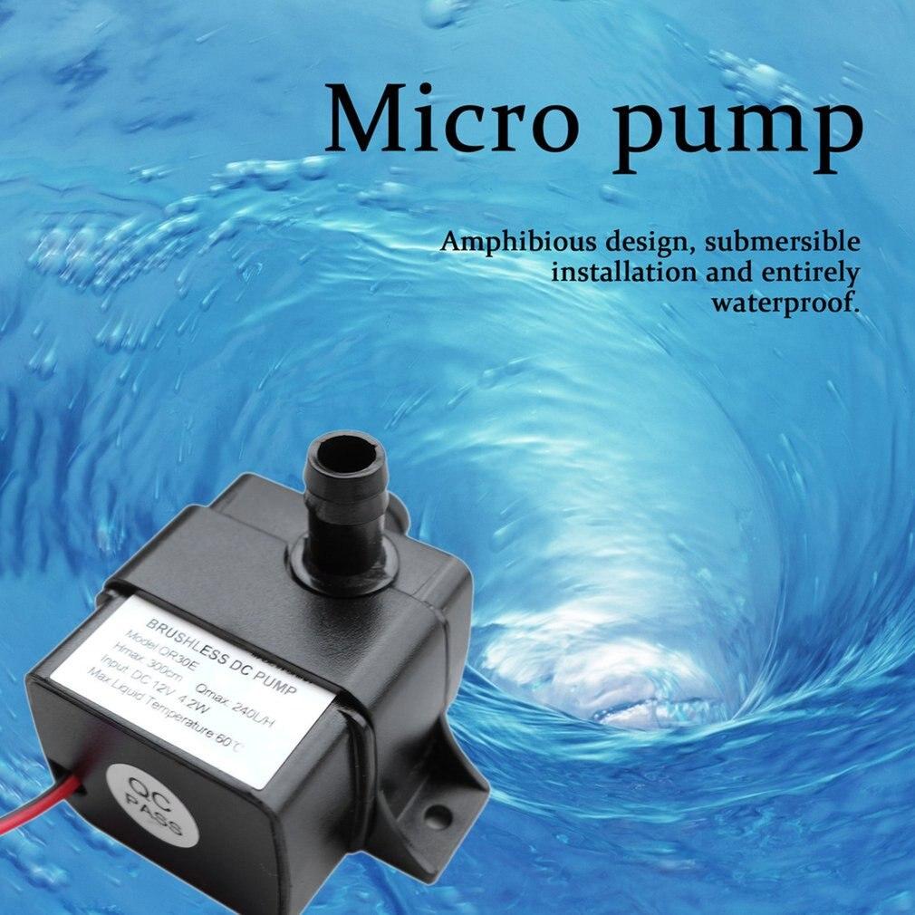Mini bomba de agua 12v QR30E Ultra silenciosa bomba sin escobillas impermeable sumergible 4,2 W 240L/H flujo CPU enfriamiento Dropshipping