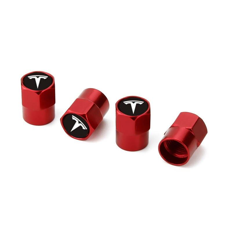 4 stücke Reifen Ventil Kappe Schraube Abdeckung Tiry Ventil Rad Mutter Außen Dekoration Für Tesla Modell 3 Modell X Modell S Zubehör
