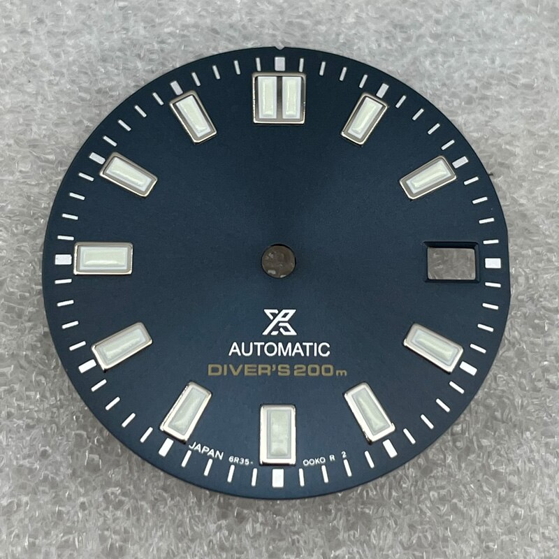 Watch Parts 28.5mm Blue/Black Watch Dial Suitable For NH35/36 Automatic Movement enlarge