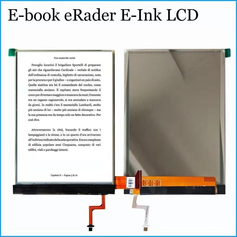 6 inch E-Ink Screen Glass with Backlight For Tesla literally fl6.0 Reader Ebook Tesla ViVA LCD Display For BQ Cervantes 2013