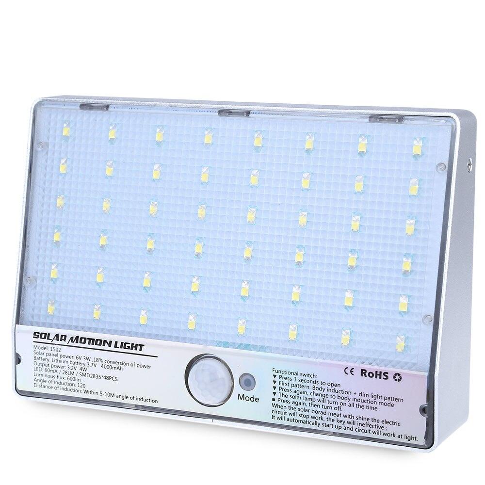 48 مصباح مستشعر حركة يعمل بالطاقة الشمسية led ، أصلي ، موفر للطاقة ، غير تلوث ، وقت طويل للمنزل والخارج